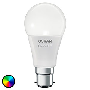 SMART+ LED B22 10W, RGBW, 800lm, dimmerabile
